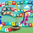 Постер, плакат: Snakes and ladders game
