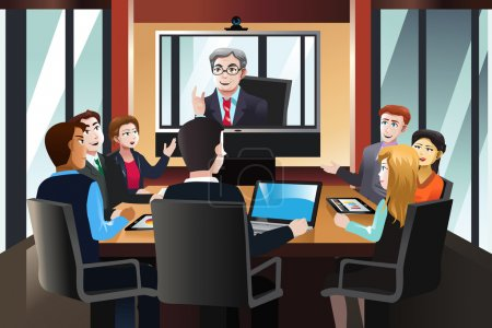 Business people on a video conference