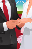 Man putting wedding ring