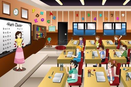 Teacher Teaching Math in Classroom