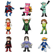 Kids Wearing Superheroes Costume