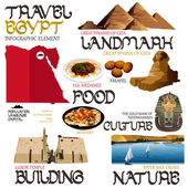 Infographic Elements for Traveling to Egypt