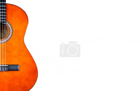 Photo for Spanish acoustic guitar isolated on white - Royalty Free Image