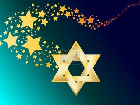 Hebrew Jewish Star of magen david vector illustration