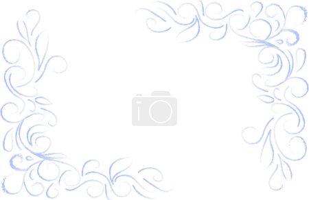 blue floral corner