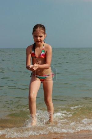 Lovely little girl over tha Black Sea