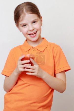 Smiley kid on Food theme