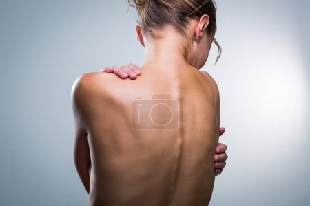 Beauty portrait of a beautiful female model's back