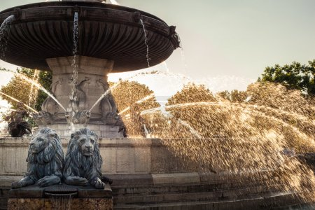 La Rotonde fountain - The central roundabout in Aix-en-Provence,