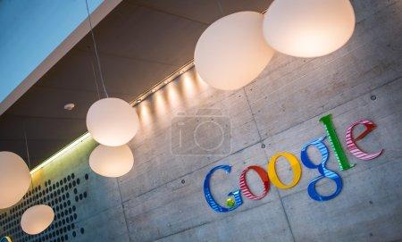 Google Corporation Reception sign