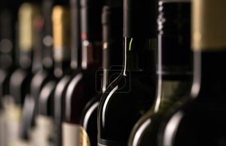Bottles of wine view