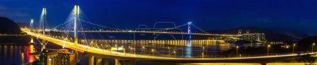 Bridge in Hong Kong at night