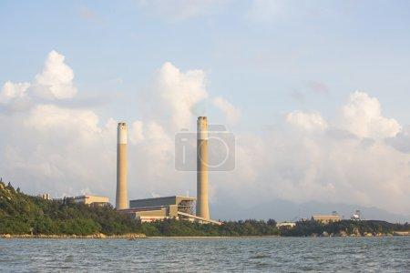 Power plant along coast