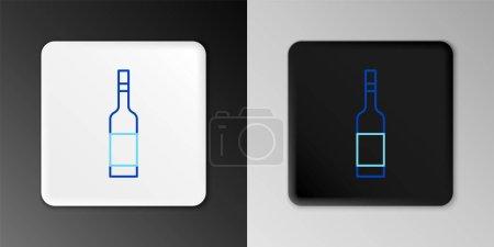 Illustration pour Ligne Bouteille en verre de vodka icône isolée sur fond gris. Concept de contour coloré. Vecteur - image libre de droit