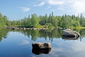 The river Unduksa in Northern Kareliya, Russia