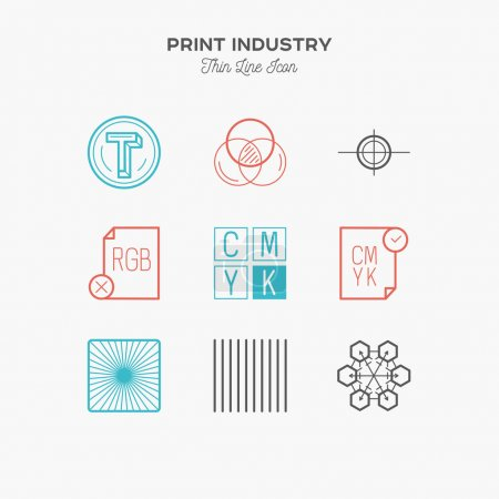 Print industry, print design, printing process, proofing, thin l