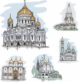Famous churches and cathedrals in Mosocw Russia