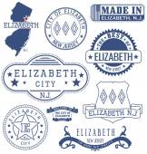 Elizabeth city NJ generic stamps and signs