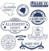 Allegheny county PA generic stamps and signs