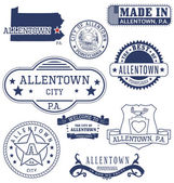 Allentown city PA generic stamps and signs