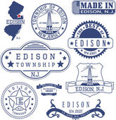 Edison township NJ generic stamps and signs