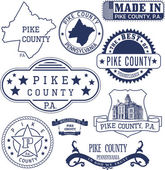 Pike county PA generic stamps and signs