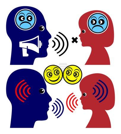 Photo pour L'alternative à crier est parler et écouter les enfants - image libre de droit