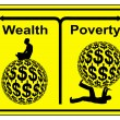 Concept sign of social and economic inequity and t...