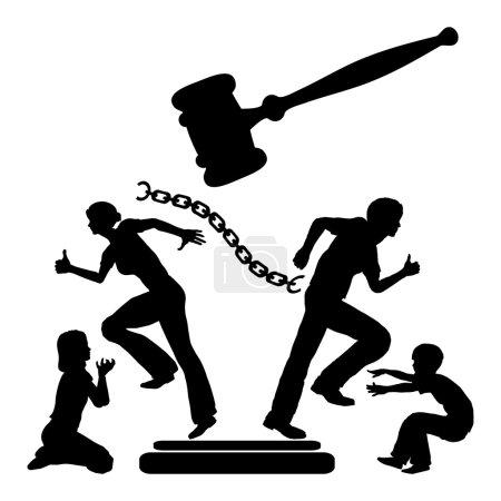 Photo pour Domicile brisé après la séparation judiciaire avec des enfants comme victimes - image libre de droit