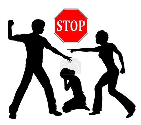 Photo pour Les châtiments corporels comme la fessée pour discipliner les enfants sont hors de question - image libre de droit