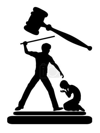 Photo pour Cruauté envers les enfants doit être interdit par la Loi - image libre de droit