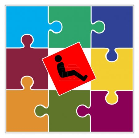 Photo for Concept sign of social exclusion of people with handicaps - Royalty Free Image
