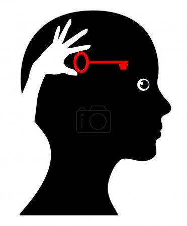 Photo pour Concept signe de la femme avec la conscience de soi et le faire vous-même stratégie - image libre de droit