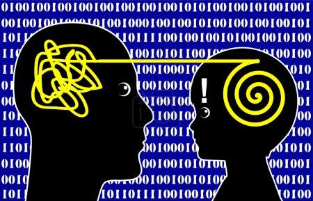 Photo pour Les enfants de la génération ordinateur enseigner aux adultes dans les technologies modernes - image libre de droit