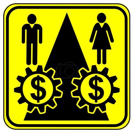 Photo pour Signe de concept pour un salaire égal pour un travail égal en particulier pour les femmes - image libre de droit