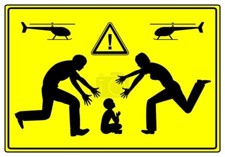 Photo pour Le père et la mère prêtent une attention extrêmement particulière à leur enfant qui cause des problèmes dans le développement de l'enfant - image libre de droit