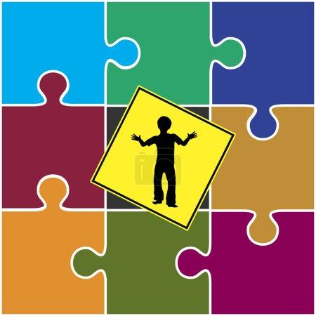 Zeichen, Kind, Kindheit, Kindergarten, bengel, Symbol - B77200515