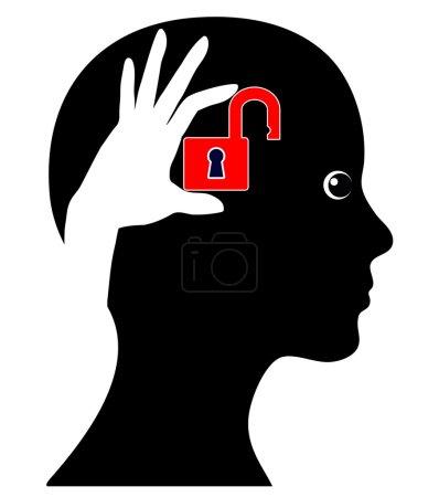 Photo pour Signe conceptuel d'une femme qui peut faire plus de son cerveau - image libre de droit
