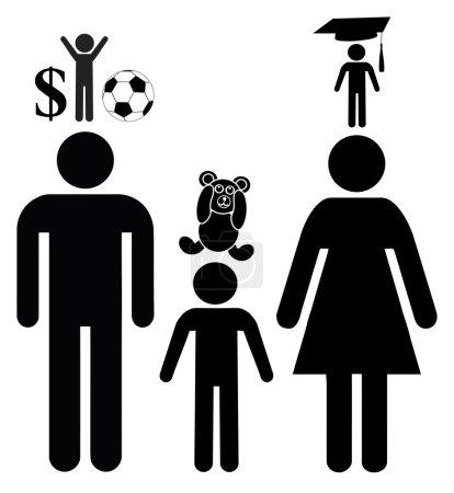Photo pour Signe conceptuel de parents trop ambitieux concernant le cheminement professionnel de leurs enfants dans l'éducation préscolaire - image libre de droit