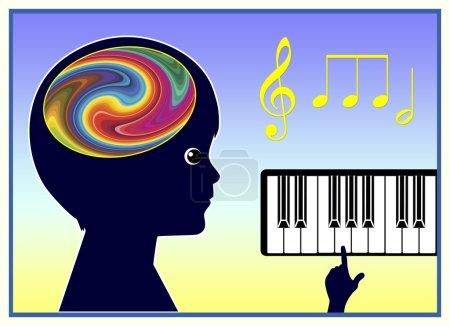 Photo pour La musique aide les enfants à améliorer leur santé physique et mentale - image libre de droit
