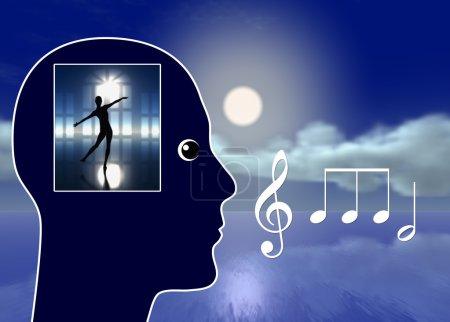 Photo pour Musique classique conduisant à la réduction de stress, relaxation et rêve lucide - image libre de droit