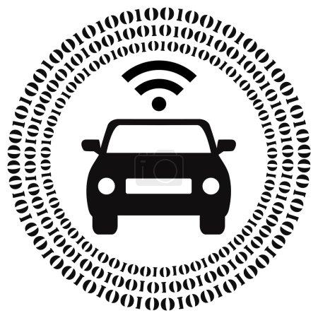 Photo pour Signe de la notion des voitures sans conducteur et self conduite de véhicules - image libre de droit