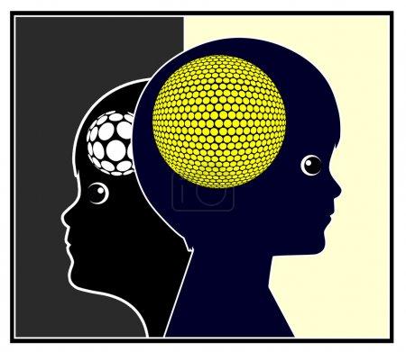 Photo pour Le développement du cerveau dépend de la stimulation de l'éducation de la petite enfance - image libre de droit