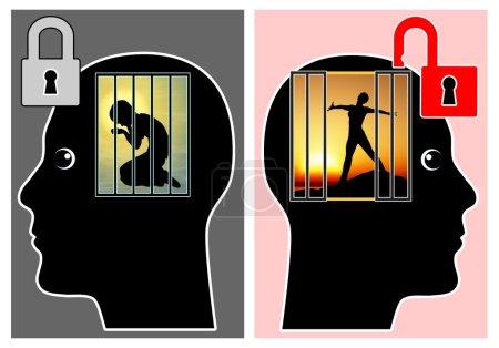 Photo pour Adultes doivent apprendre à surmonter les traumatismes émotionnels dans leur éducation de la petite enfance - image libre de droit