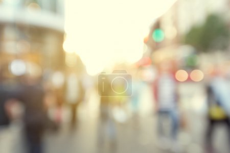 Photo for People in bokeh, street of London - Royalty Free Image
