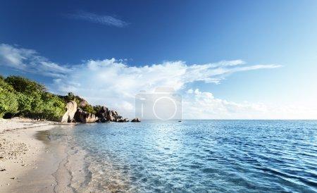 Photo pour Anse Source d'Argent plage, île de La Digue, Seyshelles - image libre de droit