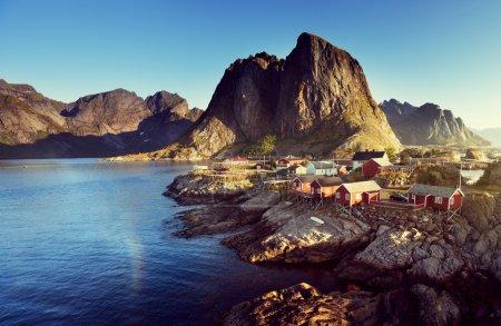Fishing hut  in the Hamnoy - Reine, Lofoten islands, Norway