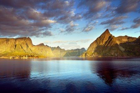 Sunset in Lofoten islands, Norway