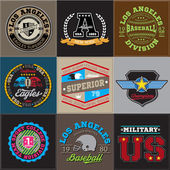 Sport athletic champions college baseball football logo emblem collection
