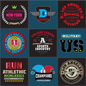 Sport athletic college baseball football logo emblem collection Graphics and typography t-shirt design for apparel